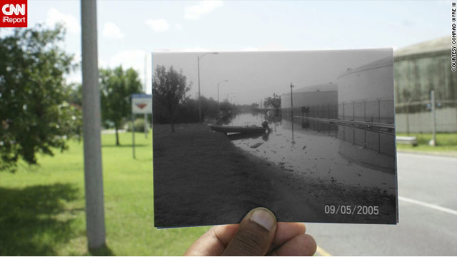 Photographer Conrad Wyre took shots from Katrina's aftermath in 2005 and revisited those locations recently.