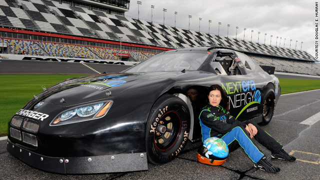 Leilani Munter hopes to sign up a team of green sponsors for the ARCA car she drives.