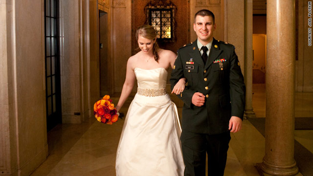 At Sarah Dixon and Todd Rump's wedding, wedding favor donations were made to the Wounded Warrior Project.
