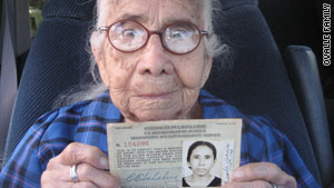 "Eulalia Garcia Maturey, 101, has kept the ""Legal Entry"" document she received 69 years ago in pristine condition."