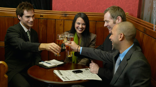 Being friendly with coworkers can alleviate some of the stresses of a job.