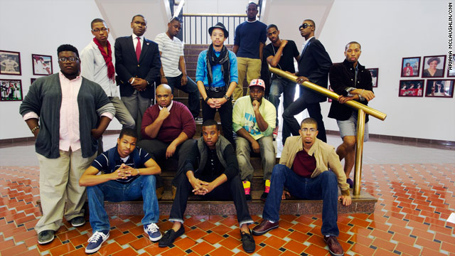 Students at Morehouse College, an all-male school, show the fashion spectrum of what it means to be a  Morehouse man.