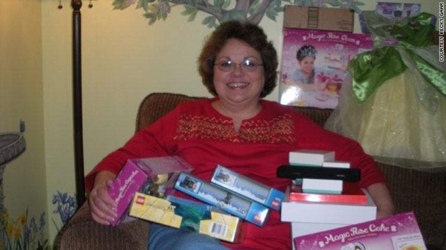 Becky Gaar, 57, likes to buy holiday gifts for the familiy several months early to get the best deals and selection.