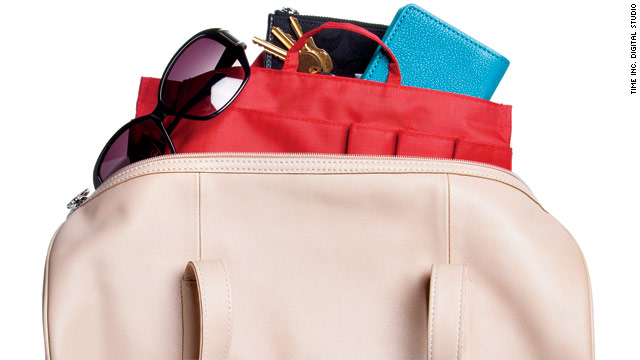If you switch purses often, invest in an organizer that can transfer from one bag to another with ease.