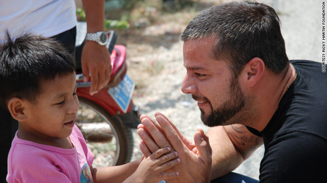 Ricky Martin started his foundation to advocate for children around the world.