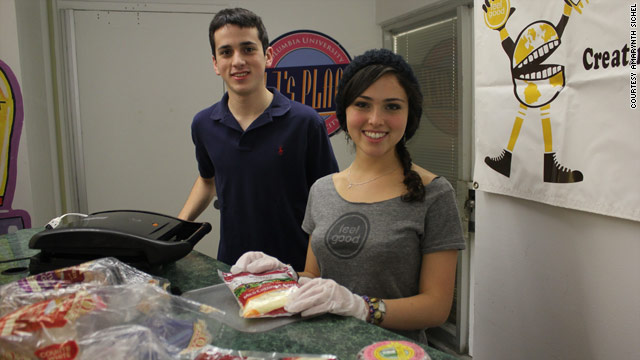 Amarynth Sichel donates cooking skills to raise money for charity. Social entrepreneurship has surged on U.S. campuses