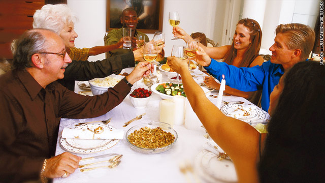 Author Garrison Keillor finds an eloquent way of saying grace at the Thanksgiving table, despite having a lot of relatives.