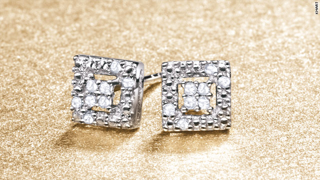 Princess cut diamond earrings from Kmart for under $20 are one of the more affordable pieces of jewelry on sale this holiday.