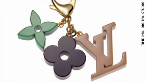 Louis Vuitton monogram keychains will make you never want to lose your keys again.