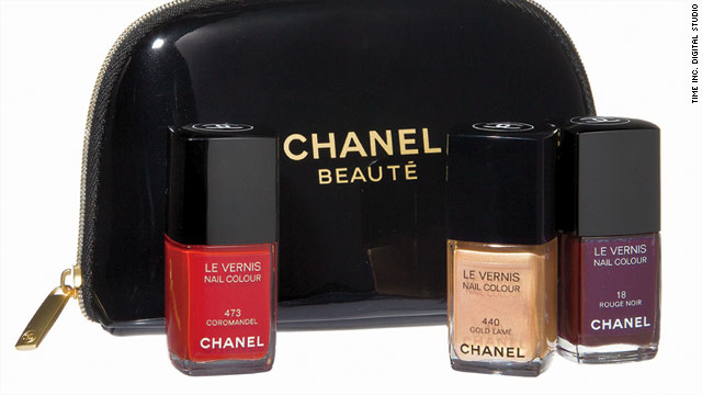 Chanel's Nail Polish Trio offers three full-size bottles, including Rouge Noir, Gold Lame and Coromandel.