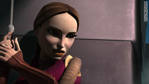 Catherine Taber, who voices Padme Amidala, saw Katie's story, and shared it with her castmates.