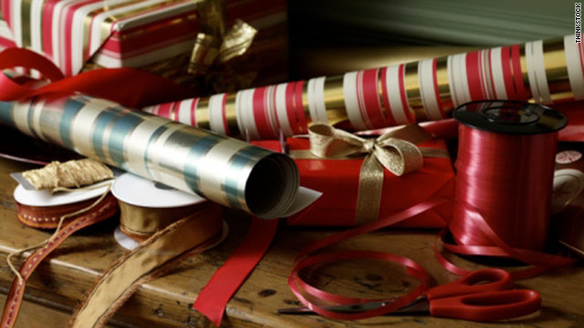 Prop Stylist Elizabeth Press offers cost-saving tricks for expert gift-wrapping.