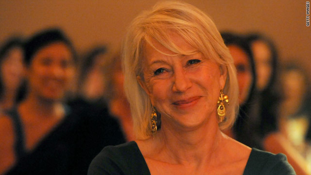 """Helen Mirren says that in order to feel beautiful, """"just put your shoulders back and chin up, and face the world with pride."""""""