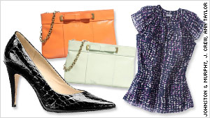 Lux-looking shoes, a sleek purse and great separates can make you look good at an interview.
