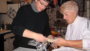 Food writer and author Kim Severson makes pasta with her mother.