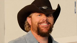 Fans can say they ate dinner at Toby Keith's place.