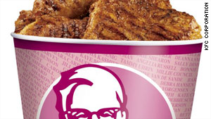 KFC will donate 50 cents from each pink bucket sale to organizations funding cancer research.