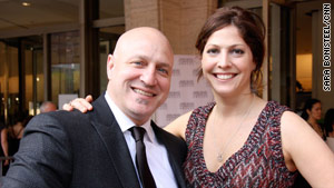 Tom Colicchio and his wife, Lori Silverbush, at the James Beard Awards.