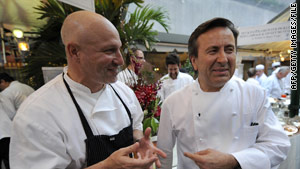 Chefs-restaurant owners Tom Colicchio and Daniel Boulud both won James Beard awards.