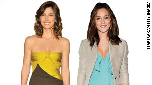 Leighton Meester and Jessica Biel add a bright pop of color to their wardrobe.
