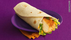 Getting in on the snack trend, McDonald's offers several varieties of its grilled chicken wrap.