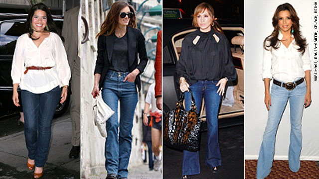 America Ferrera, Keira Knightley, Jennifer Lopez and Eva Longoria Parker in figure-flattering denim.