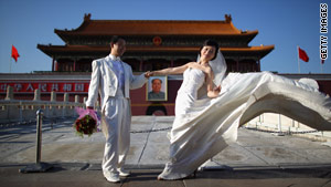 China has the highest level of spousal satisfaction, at 83 percent.