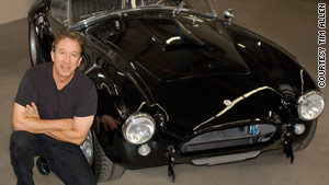 Tim Allen, seen with his 1965 Shelby Cobra, says he'd like to see more passion in today's car designs.