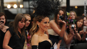 "Sarah Jessica Parker, who plays Carrie Bradshaw,  attends the UK premiere of ""Sex And The City 2."""