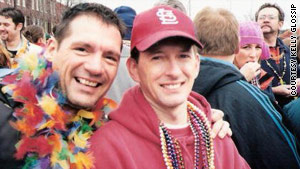 Kelly Glossip and Dennis Engelhard attend a  Mardi Gras festival in St. Louis, Missouri, in 2007.