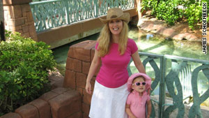 Dana Wood with daughter Parker in the Bahamas in 2008.
