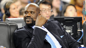 NBA player Shaquille O'Neal lost a bet about the White House, but he didn't lose any money.