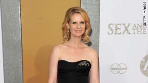 Actress Cynthia Nixon who plays Miranda Hobbes at the   premiere of 'Sex and the City 2'  in New York.