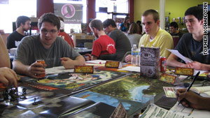 Players take part in Dungeons & Dragons Encounters, a version of the game for people with busy schedules.