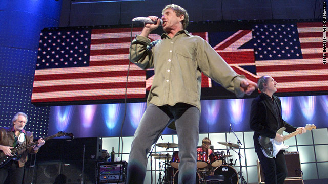 Roger Daltrey and Pete Townshend of The Who performing at Madison Square Garden on October 20, 2001.