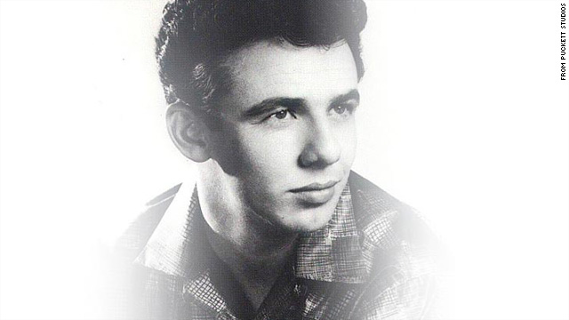 Dale Hawkins is shown in a 1950s promotional photo from Puckett Studios.