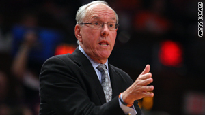 Syracuse Orangemen coach Jim Boeheim favors an increase in the number of March Madness participants.
