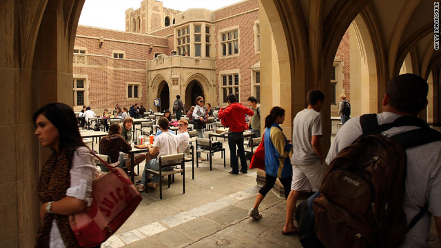 Students at the University of California, Los Angeles, one of the campuses affected by budget cuts.