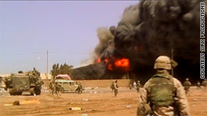 Mike Scotti filmed scenes of Iraq combat which are featured in a new documentary, &quot;Severe Clear.&quot;