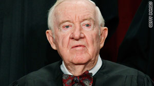 Justice John Paul Stevens announced his decision to retire Friday.