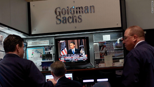 Financial professionals watch President Obama's address on financial reform from the floor of the New York Stock Exchange.