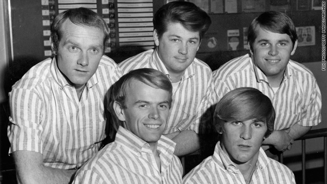 The Beach Boys in 1964. From left, Mike Love, Al Jardine, Brian Wilson, Dennis Wilson and Carl Wilson.