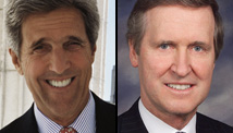 John Kerry, left, and William Cohen