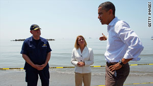 President Obama visits the Gulf Coast to assess the damage up close.