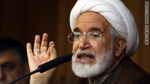 "Opposition leader Mehdi Karrubi says, ""Iranian society has made strides in the path of knowing their rights."""