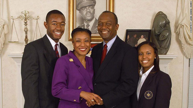 Leah Ward Sears with her husband Haskel Sears Ward, son Addison Sears-Collins and daughter Brennan Sears-Collins.