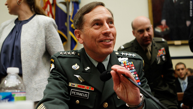 Gen. David Petraeus arrives for a hearing before the House Armed Services Committee June 16, 2010 on Capitol Hill.