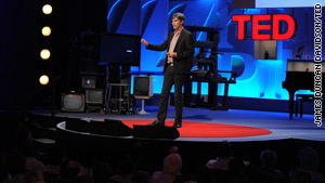 Author and blogger Steven Berlin Johnson speaks at TED Global in Oxford, England.