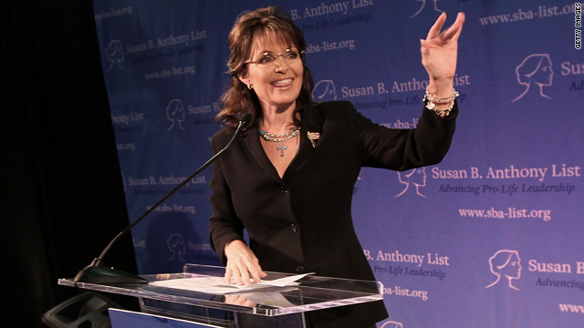 Former Gov. Sarah Palin waves to a crowd gathered to hear her speak on May 14 in Washington, DC.