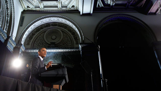 President Barack Obama speaks during a Democratic Party fundraiser at the Chicago Cultural Center August 5 in Chicago, Illinois.
